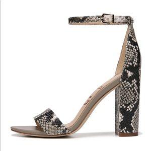 Sam Edelman Yaro Snake-Print Leather heels